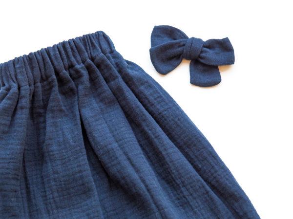 Jupe Bleue Marine, double gaze de coton